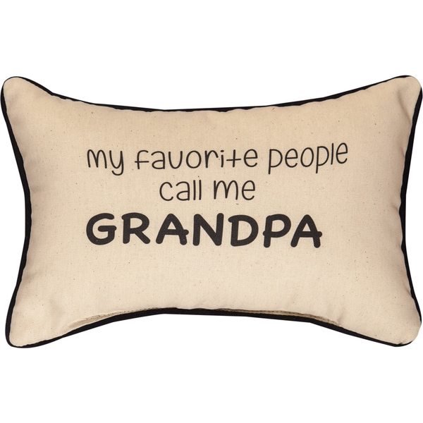 Manual Woodworkers 'My Favorite People Call Me Grandpa' Decorative Throw Pillow