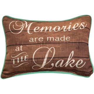 Manual Woodworkers 'Memories Are Memories Are Made at the Lake' Multicolor Decorative Throw Pillow