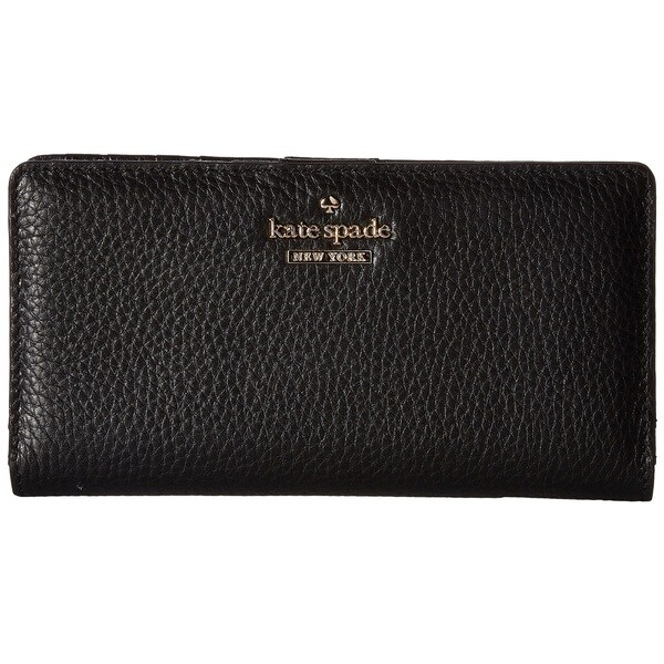 f1c26ed88c5ba Kate Spade New York Jackson Street Stacy Black Pebbled Leather Continental  Wallet