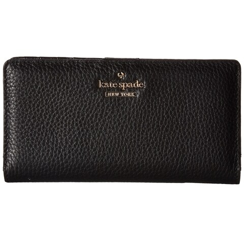 Kate Spade New York Jackson Street Stacy Black Pebbled Leather Continental Wallet