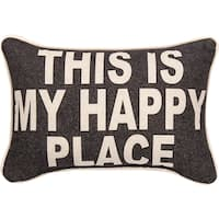 Manual Woodworkers This Is My Happy Place Decorative Throw Pillow