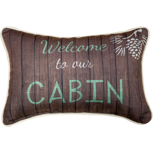 Manual Woodworkers 'Welcome To Our Cabin' Decorative Throw Pillow Impressive Cabin Decor Throw Pillows