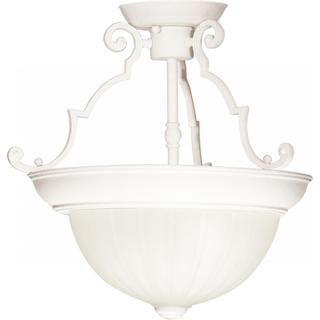 """2 Light - 13"""" - Semi-Flush - Frosted Melon Glass https://ak1.ostkcdn.com/images/products/17138728/P23404686.jpg?impolicy=medium"""