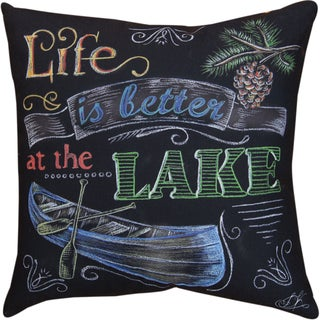 Manual Woodworkers 'Life Is Better at the Lake' Decorative Throw Pillow