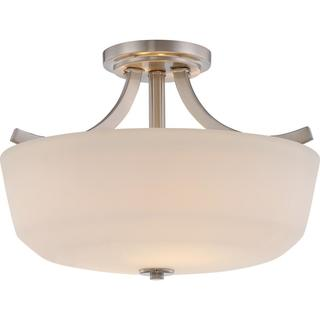Link to Laguna - 2 Light Semi Flush with White Glass Similar Items in Semi-Flush Mount Lights