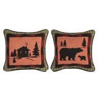 Manual Woodworkers Bear Lodge Decorative Throw Pillow