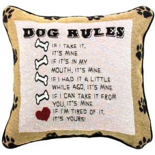 Manual Woodworkers Dog Laws Decorative Throw Pillow