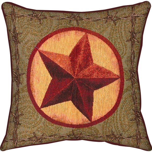 Manual Woodworkers Western Star Decorative Throw Pillow