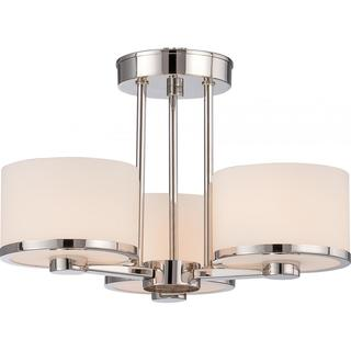 Celine - 3 Light Semi Flush with Etched Opal Glass
