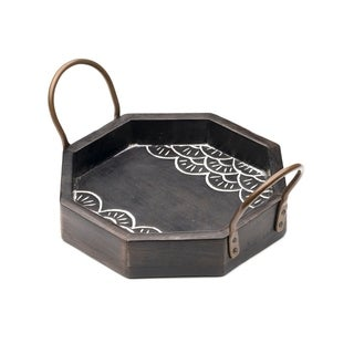 Handcrafted Wood Vasant Serving Tray - Small (India)