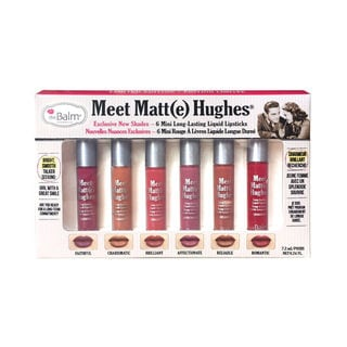 theBalm Meet Matt(e) Hughes Vol. 2 Set of 6 Mini Long-Lasting Liquid Lipsticks