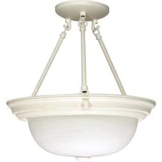 "3 Light - 15"" - Semi-Flush - Alabaster Glass https://ak1.ostkcdn.com/images/products/17138885/P23404769.jpg?impolicy=medium"