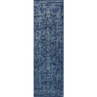 Lucca Floral Navy/ Aqua Runner Rug (2'7 x 8')|https://ak1.ostkcdn.com/images/products/17138926/P23404785.jpg?impolicy=medium