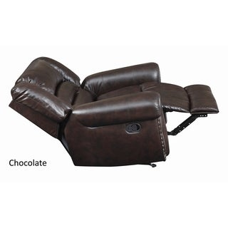LYKE Home Claire Contemporary Bonded Leather Recliner