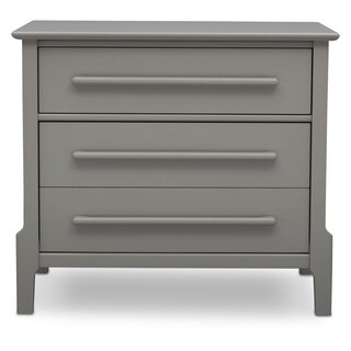Serta Mid-Century Modern 3 Drawer Dresser with Changing Top, Grey