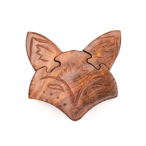 Handcrafted Fox Puzzle Box (India)
