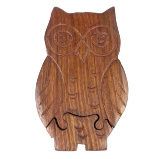Handcrafted Owl Puzzle Box (India)