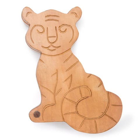 Handmade Tiger Pivot Box (India)