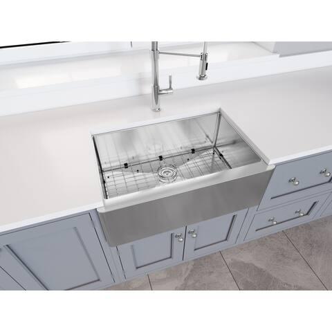 Ancona Prestige Undermount Apron Front 30 in. Single Kitchen Sink