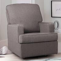 Delta Children Henry Nursery Glider Swivel Rocker Chair, French Grey
