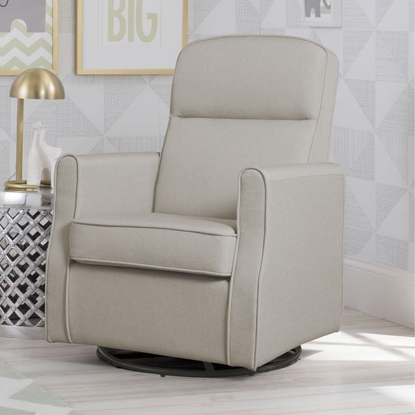 Delta Children Blair Slim Nursery Glider Swivel Rocker Chair Taupe