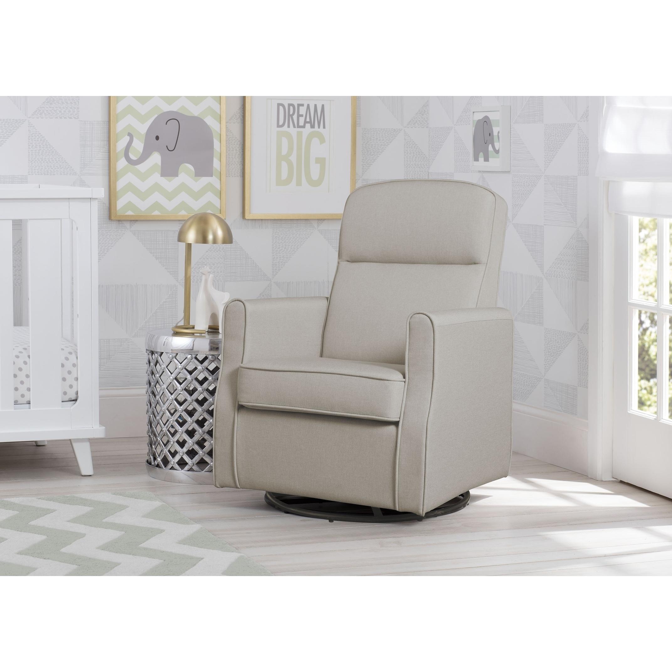 Delta-Children-Blair-Slim-Nursery-Glider-Swivel-Rocker-Chair-Taupe