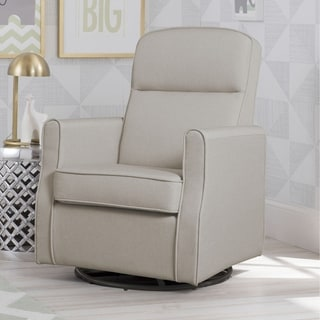 Delta Children Blair Slim Nursery Glider Swivel Rocker Chair, Taupe