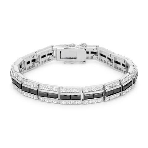 Balboa Onyx Cubic Zirconia Bracelet - onyx clear