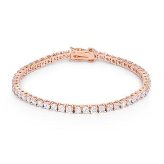 5.75ct Rose Goldtone Cubic Zirconia Tennis Bracelet - CLEAR