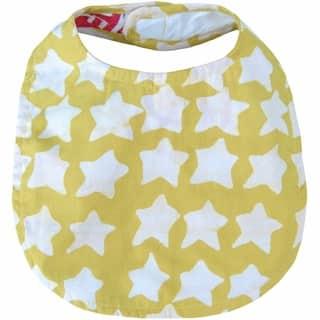 Hand Batiked Cotton Baby Bib - Gold Stars (Ghana) https://ak1.ostkcdn.com/images/products/17139323/P23405133.jpg?impolicy=medium