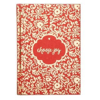 Handmade Metallic Message Journal - Choose Joy (India)