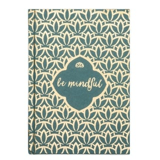 Handmade Metallic Message Journal - Be Mindful (India)