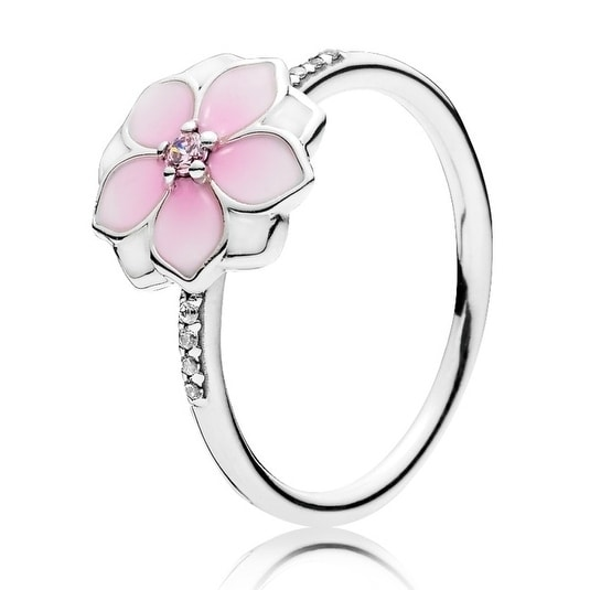 1c28c1c57 Shop Pandora Magnolia Bloom Ring - Size 54 - 191026PCZ-54 - Free Shipping  Today - Overstock - 17139642