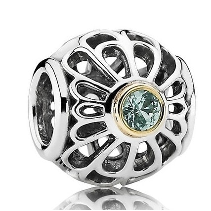 8de663649c24f Pandora Silver & Green Spinel Openwork Lace Charm - 791173SSG