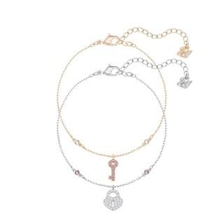 Swarovski Crystal Wishes Key Bracelet Set - Pink - 5272251