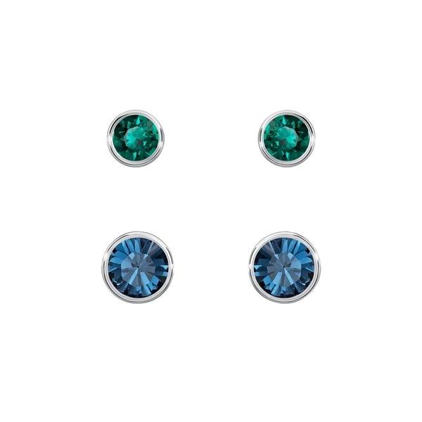 71462c23f Shop Swarovski Harley Pierced Earrings Set - 5226495 - Free Shipping Today  - Overstock - 17140427