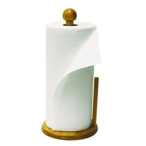 Shop Sweet Home Collection Bamboo Paper Towel Holder 13 5