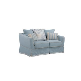 LYKE Home Contemporary Knit Fabric Love Seat