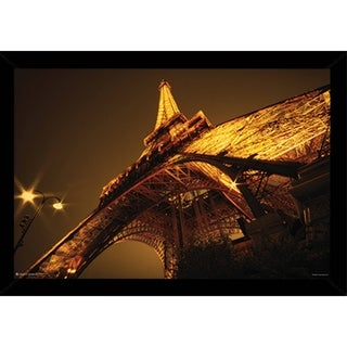 Glowing Eiffel Tower Poster With Choice of Frame (24x36)