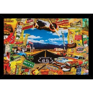 Along The Route Poster With Choice of Frame (24x36)