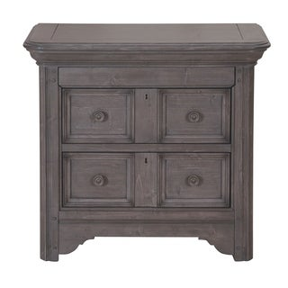 Shelter Cove Traditional Weathered Driftwood Nightstand