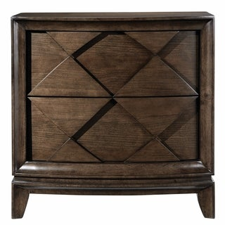 Meridian Contemporary Amaretto Brown Drawer Nightstand