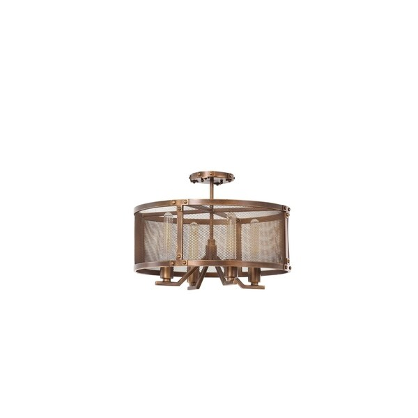 Kalco 502140CP Four Light Semi Flush Mount Chelsea Copper Patina - One Size. Opens flyout.