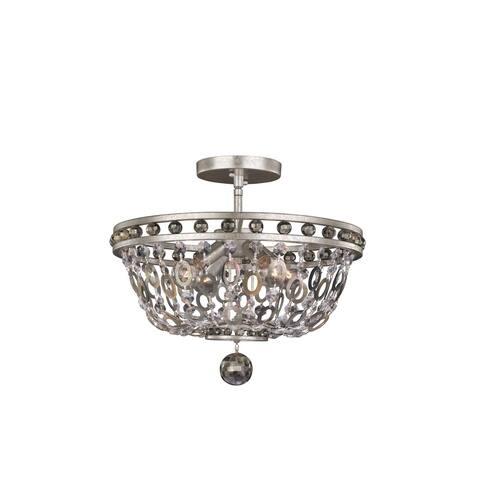 Allegri 029941042 Four Light Semi Flush Mount Lucia Vintage Silver Le - One Size