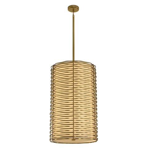 Kalco 312751VBR LED Foyer Chandelier Paloma Vintage Brass - One Size