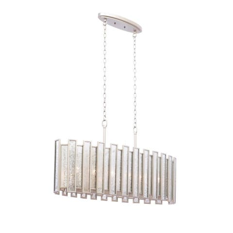 Kalco 505061TS Six Light Pendant Palisade Tarnished Silver - One Size