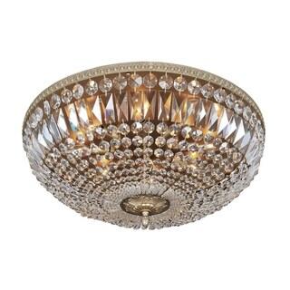 Allegri Lemire Antique Gold-tone 8-light Flush-mount Light