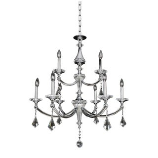 Allegri Floridia Silver Metal and Crystal 9-light Chandelier