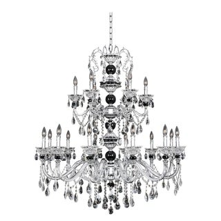 Allegri Faure 18 Light Chandelier with Crystal Accents