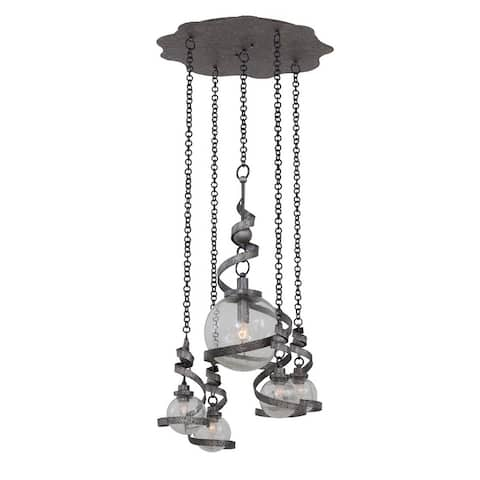 Kalco 7278HS Four Light Pendant Odessa Hammered Silver - One Size
